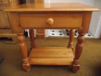 WOODEN OCCASIONAL TABLE WITH SINGLE DRAWER