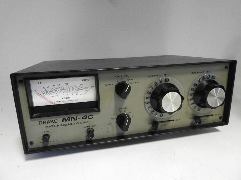 VERY GOOD CONDITION RARE DRAKE MN-4C COMPACT 160-10 METER 300 WATT ANTENNA TUNER
