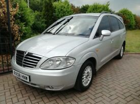 ssanyong rodius with 83k miles and long mot , seven eater !