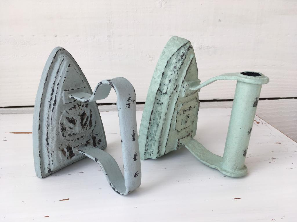 Vintage flat ironin St Austell, CornwallGumtree - Vintage antique cast iron rustic flat iron painted blue or green distressed and waxed £10 each ! Perfect for doorstops hearth ornament bookends or paperweight can deliver for a small fee