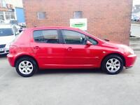 PEUGEOT 307 2.0 HDi 90 X-Line [AC] 5dr (red) 2005