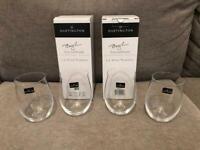 4 Dartington Wine Tumblers by Tony Braithwaite (boxed)