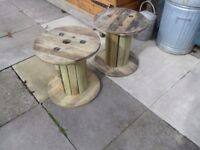 2 wooden cable reels small 2ft ?