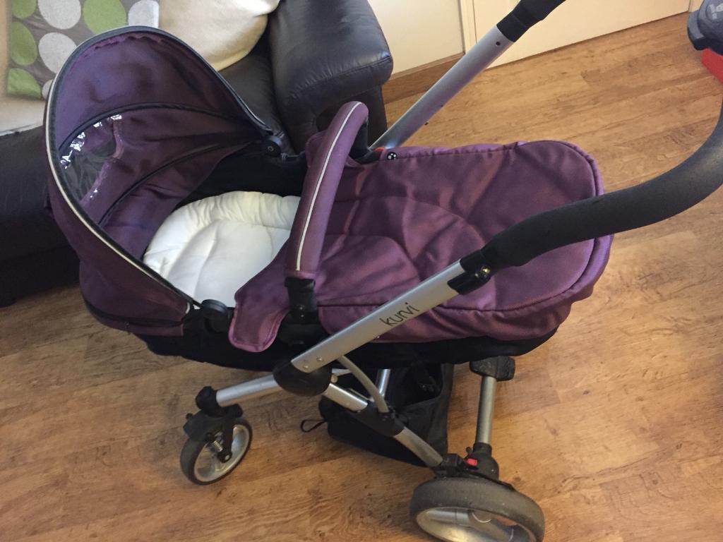 Petite Kurvi unisex prom/pushchair - plum purple