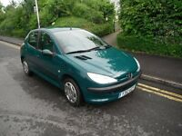 peugeot 206 long mot +3months warranty