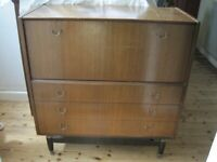 Large drawer and cupboard unit - old and well used, but solid