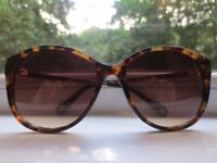 Massimo Dutti Brown/Gold Mix Sunglasses Including Original Navy Leather Case