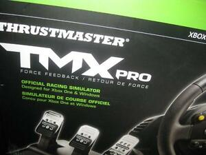 "Thrustmaster TMX Pro Racing Wheel 11"" for Microsoft Xbox One / Computer PC Game System with T3PA wide 3 pedal set"