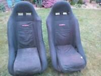 2 x Cobra bucket seats