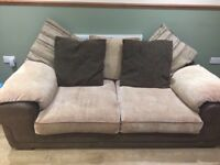 Brown/cream sofa