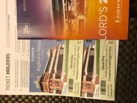 2 x Tickets for Eng vs Pak test 3rd day (26 may 18)in Lords