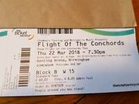 Flight of the Concords - Birmingham 22nd March 2018 - 2 tickets