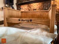 Handmade Oak dog bed REDUCED