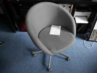 Swivel chair SKRUVSTA in grey fabric- LIKE NEW!