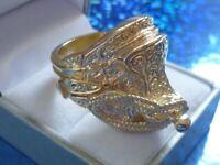 gold saddle ring size Z- 36 grams -new