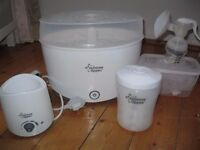 Tommee Tippee Steriliser, Electric bottle/food warmer, travel steriliser, breastpump and bottles