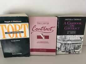Law Reference Books: Contract x 2 and Tort x 1