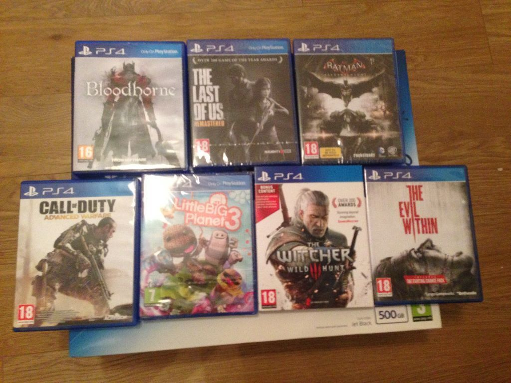 New Playstation 4 Ps4 Games The Last Of Us God Of War The