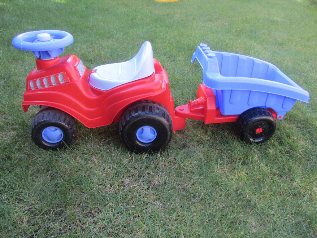 Ecoiffier Ride-on Tractor and Trailer