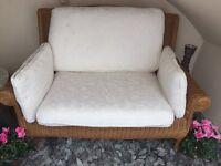 Laura Ashley Rattan Sofa chair for sale