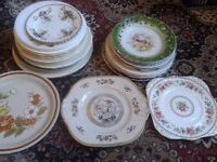 Plates - fancy, plain, collectable