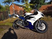 Daytona 675 13 ABS. Lots of Extras, just serviced and has a recent MOT.