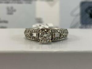 #3895 14K WOW! STUNNING White Gold Diamond Engagement Ring VS-VS2 DIAMONDS .93CTW! *SIZE 6 12* APPRAISED AT $7550.00