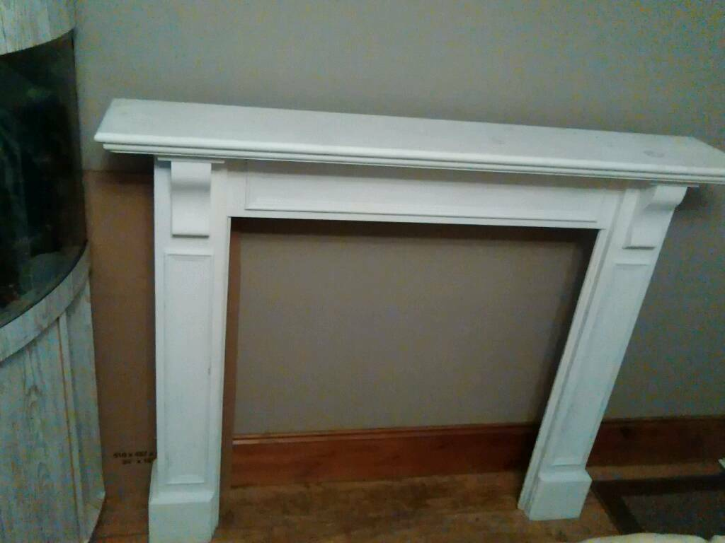 Pine fire surround sanded and painted with annie sloan chalk paint
