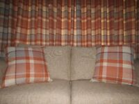 Cushions in 'Ginger Rustic Woven Check' material from Next