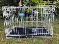 Dog crate - medium - grey