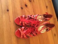 River Island orange shoes 3 and half inches size 6