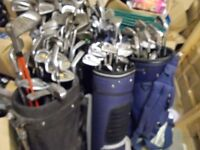 GOLF CLUBS - APPROX 150 CLUBS PLUS BAGS