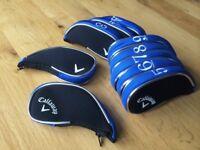 10 brand new Callaway black blue zip under superior golf club iron head covers HEADCOVERS