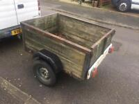 """Cheap 4x3 trailer with excellent 10"""" tyres"""