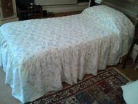 Vintage Country Diary Wildflower bedspread.