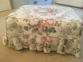 Pretty covered footstool