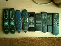 Must go today ! 9 remote controls