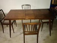 Wooden Kitchen or Dining Table With 4 Chairs