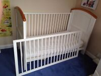 Cot Bed - White/Pine Shaker Style