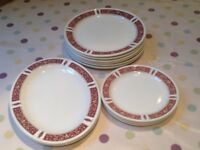 Royal Doulton 'Steelite' Red Marina: Dinner Plates, Side Plates, Oval Plates - Gt. Portland St, W1W
