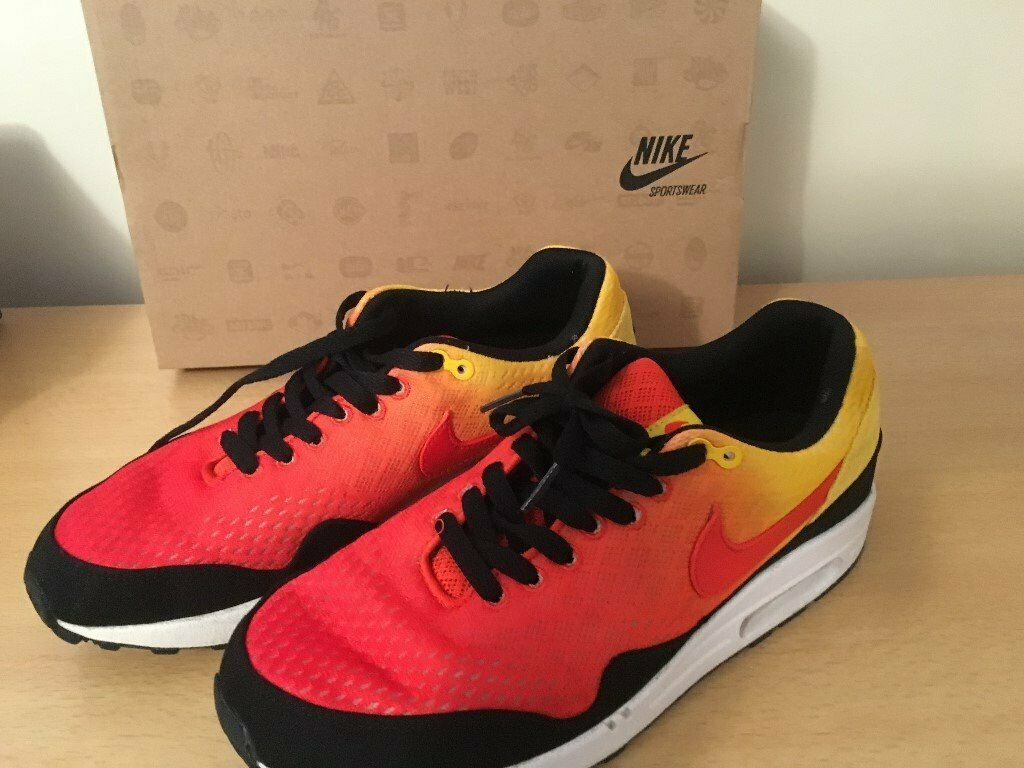 cheap for discount 923e6 f4460 MENS NIKE AIR MAX 1 EM SUNSET TEAM ORANGE TRAINERS SIZE 8