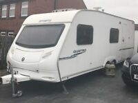 Sprite Quattro 2007/08 caravan with fixed bunk beds 6/7 berth and full starter pack