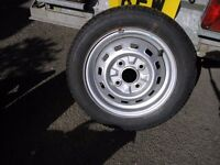 New Car Wheel And Tyre 155 / 65 13 Weymouth