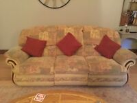 Three Piece Suite, Good Clean Condition