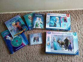 Frozen DVD / Puzzles / Books