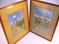"""Collectable x2 WW1 Framed Bruce Bairnsfather Prints 15"""" x 11.5"""" VGC (WH_1362)"""