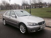 53 PLATE LEXUS IS200 AUTO 62,000 MILES RARE COLOUR LEATHER INTERIOR ALLOYS AUTOMATIC SUNROOF