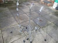 Drums - Heavy/Medium Weight Cymbal Stands - 3 available - Good for Toms Heavy rides etc