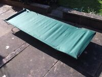 carp fishing portable bed, ideal for camping or overnight fishing bargain £10.00