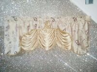 2x Gorgeous Gold Curtain Pelmets with beading detail and Golden Layers *MUST SEE*